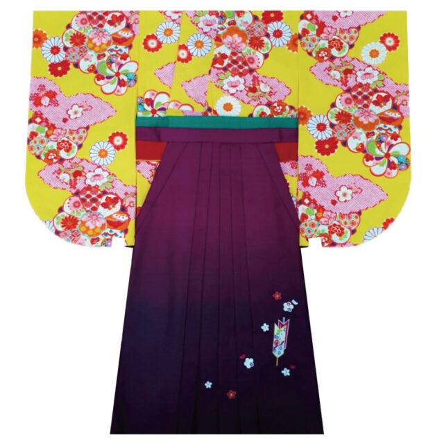 卒業式の着物×袴レンタルで可愛い印象をお探しの方には、こちらのコーディネートがおすすめ。
